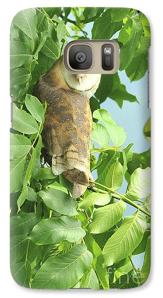Galaxy Case featuring the photograph owl by Rod Wiens