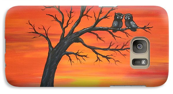 Galaxy Case featuring the painting Owl Tell You Something by Agata Lindquist