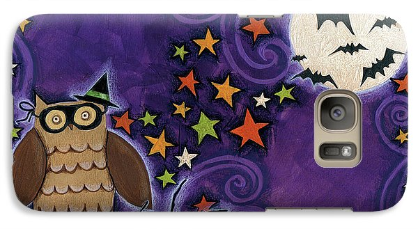 Owl With Mask Galaxy S7 Case by Anne Tavoletti