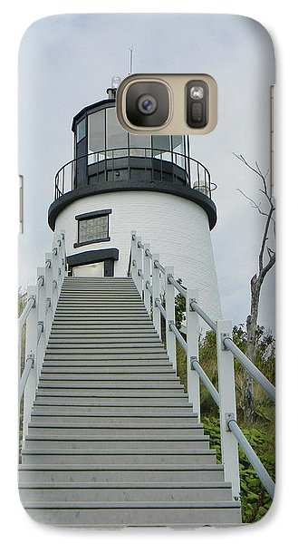 Galaxy Case featuring the photograph Owls Head Lighthouse by Jean Goodwin Brooks