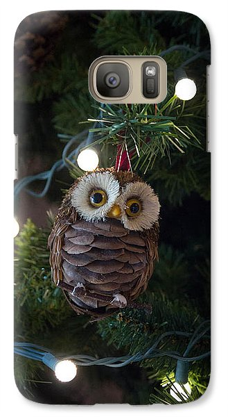 Galaxy Case featuring the photograph Owly Christmas by Patricia Babbitt