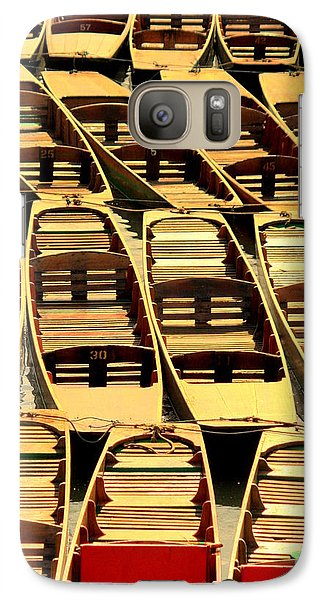 Galaxy Case featuring the photograph Oxford Punts by Linsey Williams
