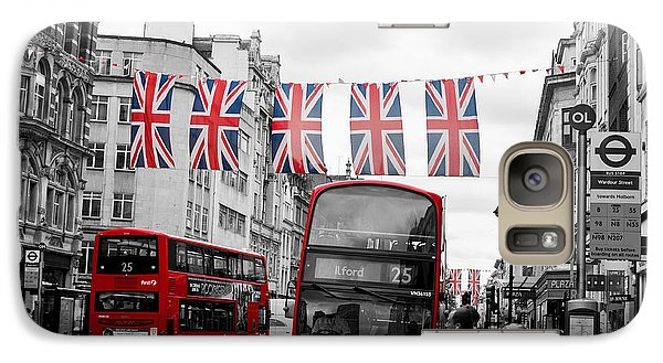 Galaxy Case featuring the photograph Oxford Street Flags by Matt Malloy