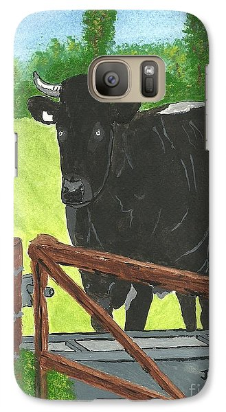 Galaxy Case featuring the painting Oxleaze Bull by John Williams