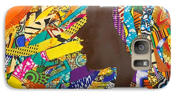 Galaxy Case featuring the tapestry - textile Oya I by Apanaki Temitayo M