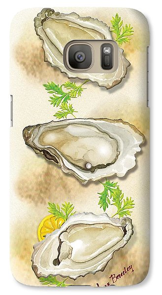 Galaxy Case featuring the painting Oysters Three by Anne Beverley-Stamps