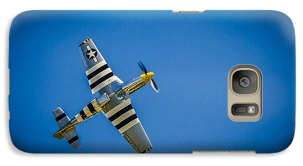 Galaxy Case featuring the photograph P-51 Invasion Stripes by Bradley Clay