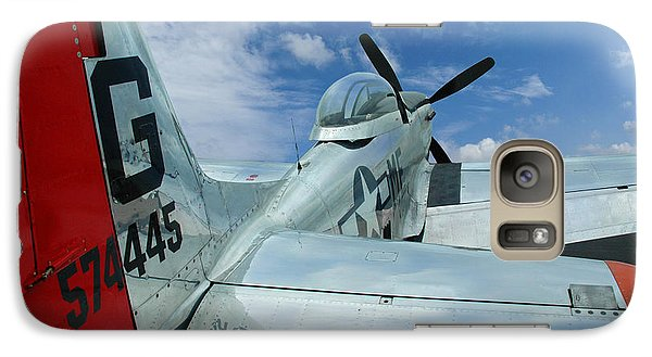 Galaxy Case featuring the photograph P-51 Mustang Pecos Bill by Rod Seel