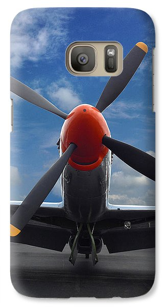 Galaxy Case featuring the photograph P-51 Ready For Flight by Rod Seel