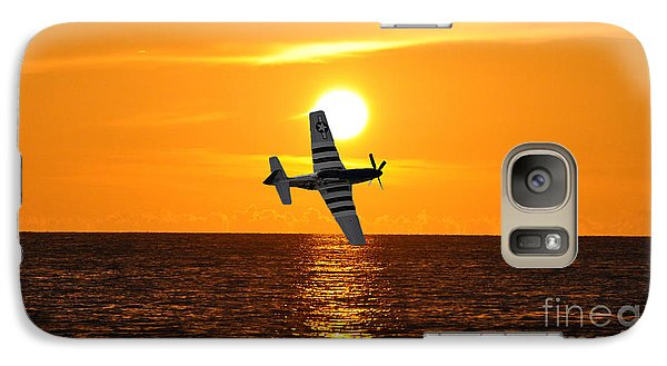 Galaxy Case featuring the photograph P-51 Sunset by John Black