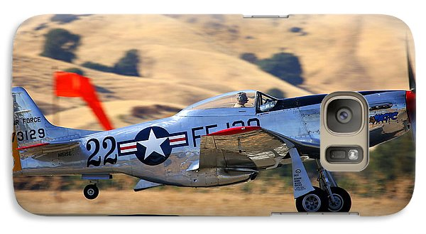P51 Merlin's Magic On Take-off Roll Galaxy S7 Case