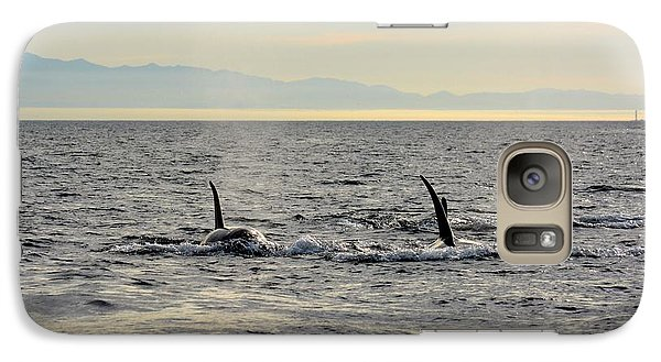 Galaxy Case featuring the photograph Pacific Northwest Orcas by Gayle Swigart