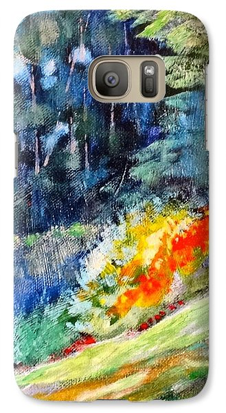 Galaxy Case featuring the painting Pacific Nw Light #1 by Charles Munn