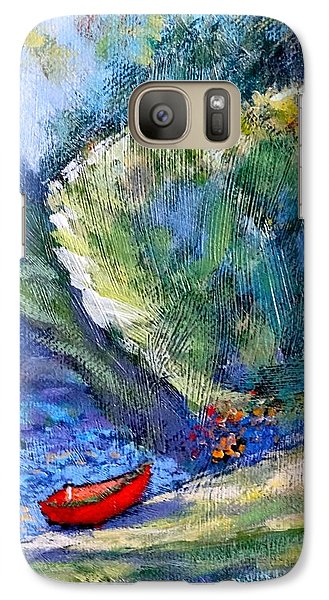 Galaxy Case featuring the painting Pacific Nw Light #2 by Charles Munn