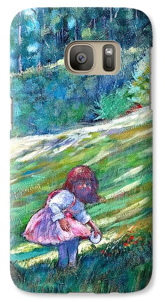 Galaxy Case featuring the painting Pacific Nw Light #3 by Charles Munn