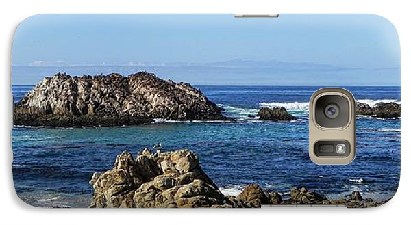 Galaxy Case featuring the photograph Pacific Ocean Panoramic by Kathy Churchman