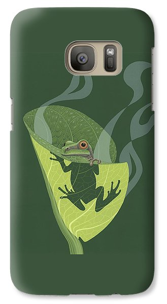 Pacific Tree Frog In Skunk Cabbage Galaxy S7 Case
