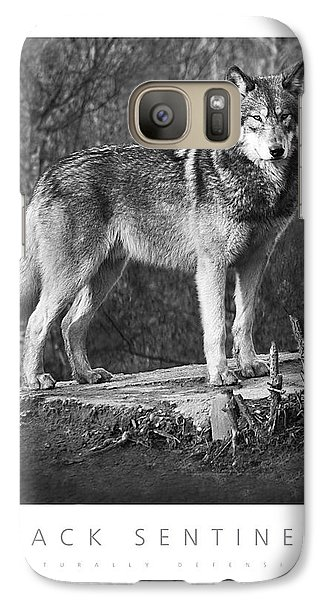 Galaxy Case featuring the digital art Pack Sentinel Naturally Defensive Poster by David Davies