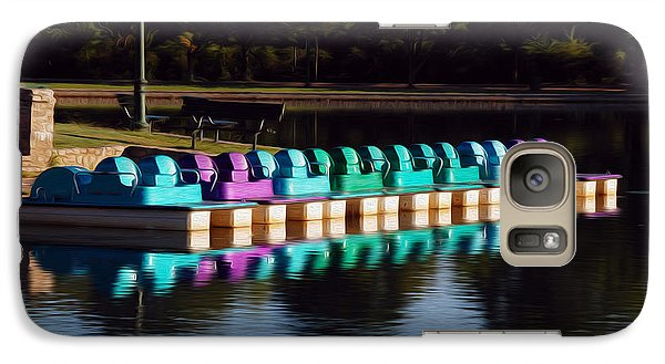 Galaxy Case featuring the digital art Paddle Boats by Kelvin Booker