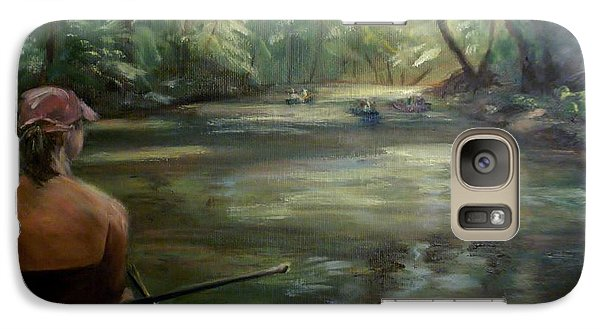 Galaxy Case featuring the painting Paddle Break by Donna Tuten