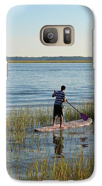 Galaxy Case featuring the photograph Paddleboarder by Margaret Palmer
