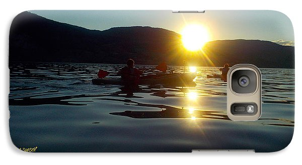 Galaxy Case featuring the photograph Paddling In The Sunset by Guy Hoffman