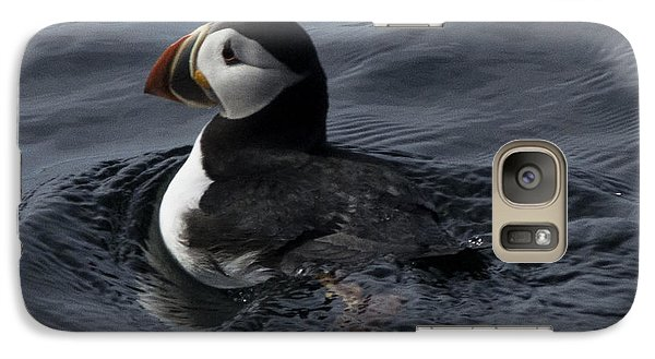 Galaxy Case featuring the photograph Paddling Puffin by Daniel Hebard