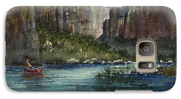 Galaxy Case featuring the painting Paddling Reagan Canyon by Tim Oliver