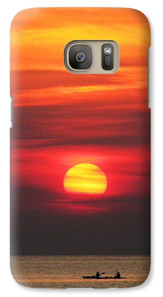 Galaxy Case featuring the photograph Paddling Under The Sun by Richard Reeve