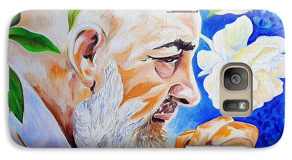 Galaxy Case featuring the painting Padre Pio by Ze  Di