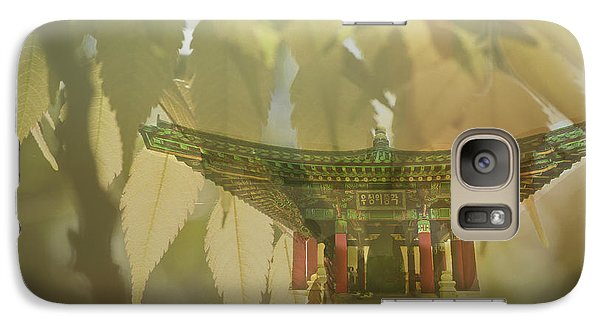 Galaxy Case featuring the photograph Pagoda In The Forest by Joseph Hollingsworth