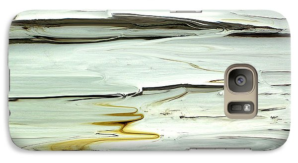 Galaxy Case featuring the photograph Paint Abstraction 3 by Mary Bedy