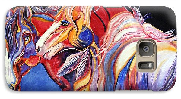 Galaxy Case featuring the painting Paint Horse Colorful Spirits by Jennifer Godshalk