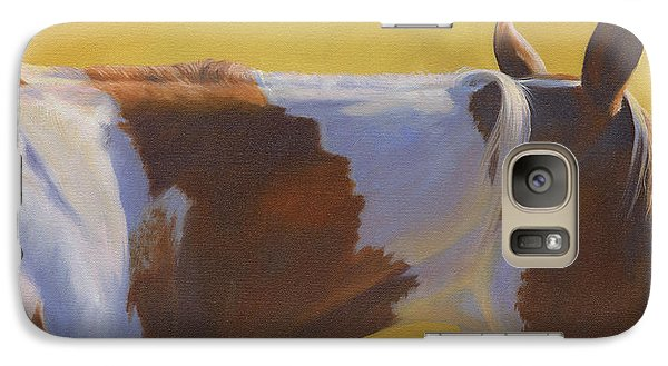 Galaxy Case featuring the painting Paint Patterns by Alecia Underhill