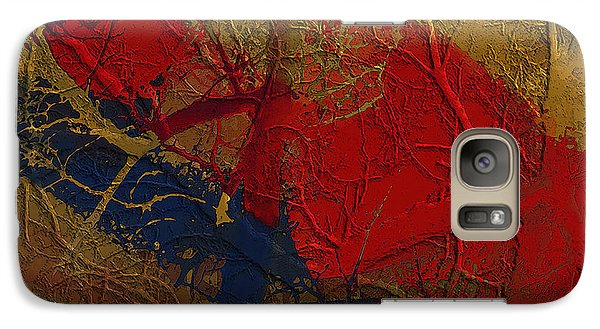 Galaxy Case featuring the digital art Painted And Etched Brass by Constance Krejci