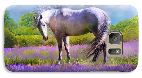 Galaxy Case featuring the digital art Painted For Lavender by Kari Nanstad
