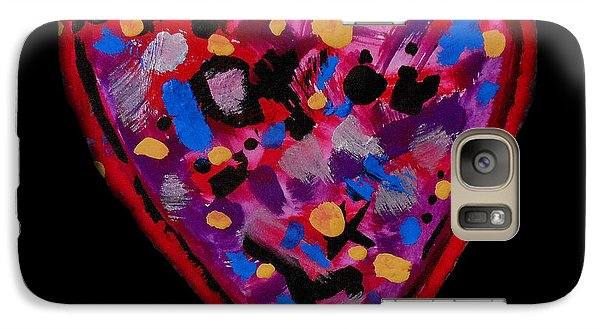 Galaxy Case featuring the painting Painted Heart 2 by Christine Perry