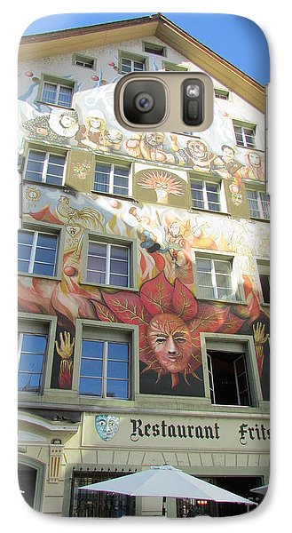 Galaxy Case featuring the photograph Painted House Fritschi by Art Ina Pavelescu
