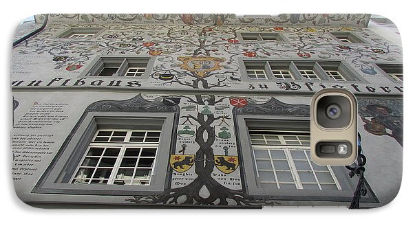 Galaxy Case featuring the photograph Painted House On The Rathaussteg by Art Ina Pavelescu