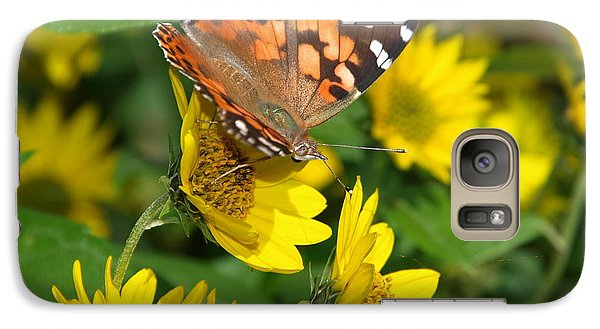 Galaxy Case featuring the photograph Painted Lady by James Peterson