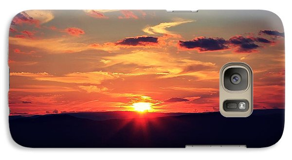Galaxy Case featuring the photograph Painted Skies by Candice Trimble