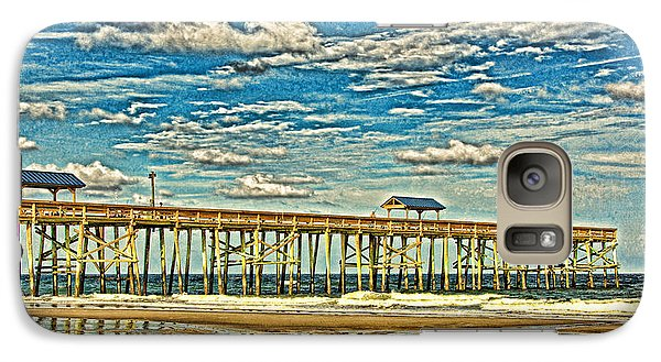 Galaxy Case featuring the photograph Surreal Reflection Pier by Paula Porterfield-Izzo
