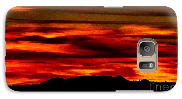 Galaxy S7 Case featuring the photograph Painted Sky 34 by Mark Myhaver