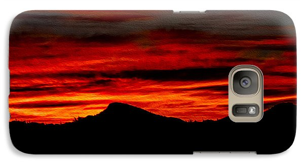 Galaxy S7 Case featuring the photograph Painted Sky 45 by Mark Myhaver