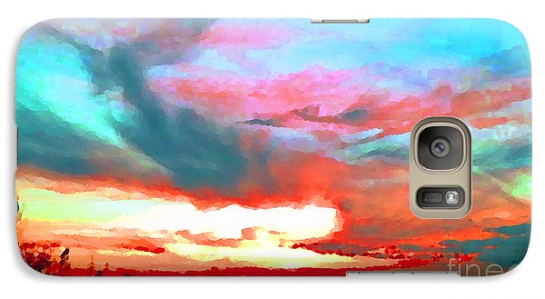 Galaxy Case featuring the photograph Painted Sky by Holly Martinson