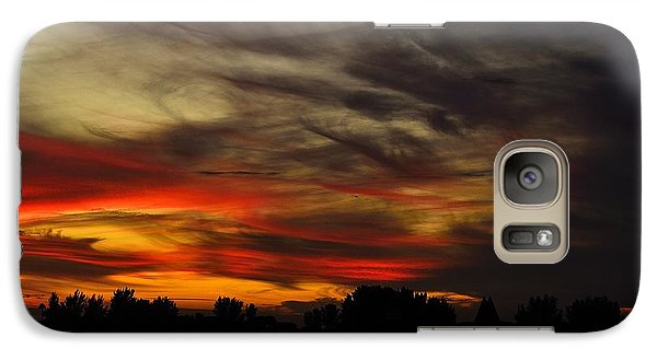 Galaxy Case featuring the photograph Painted Sky by Richard Zentner