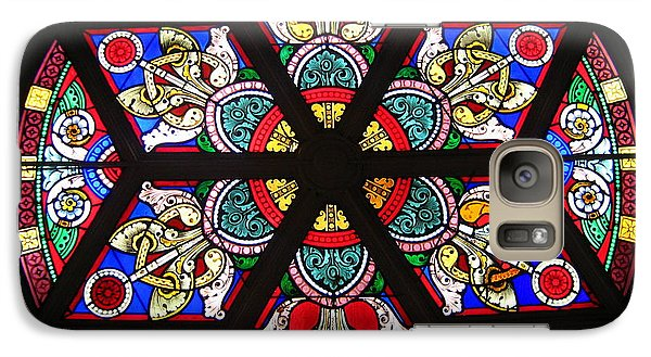 Galaxy Case featuring the photograph Painted Window by Bruce Carpenter