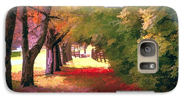 Galaxy Case featuring the photograph Painterly Forest Trail by Jim Lepard