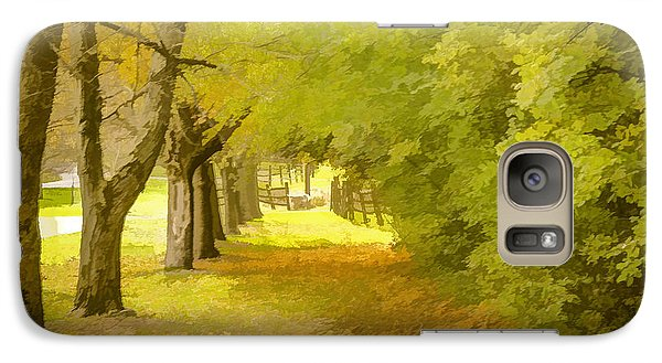 Galaxy Case featuring the photograph Painterly Pathway by Jim Lepard