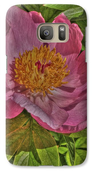 Galaxy Case featuring the photograph Painterly Peony by Harold Rau
